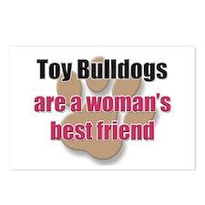 Toy Bulldogs woman's best friend Postcards (Packag