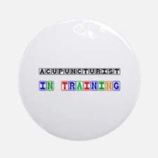 Acupuncturist In Training Ornament (Round)