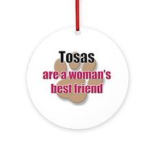 Tosas woman's best friend Ornament (Round)