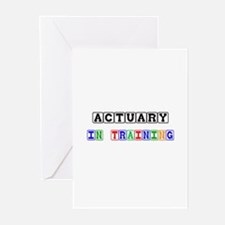 Actuary In Training Greeting Cards (Pk of 10)