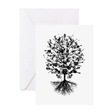 Musical Instruments Tree Greeting Card