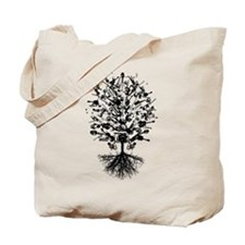 Musical Instruments Tree Tote Bag