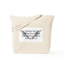 Risk Quote Tote Bag