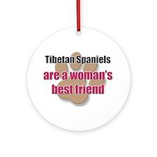 Tibetan Spaniels woman's best friend Ornament (Rou