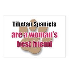 Tibetan Spaniels woman's best friend Postcards (Pa
