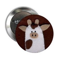 Stitched Cow Button