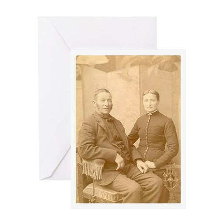 Elegant Couple Greeting Card