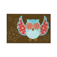 Bohemian Owl - Rectangle Magnet