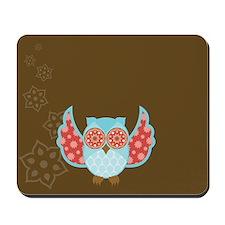Bohemian Owl - Mousepad