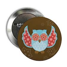 "Bohemian Owl - 2.25"" Button"