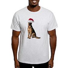 Santa German Shepherd T-Shirt