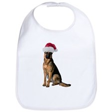 Santa German Shepherd Bib