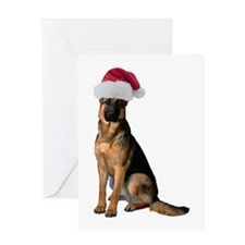 Santa German Shepherd Greeting Card