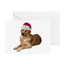 Santa Golden Retriever Greeting Cards (Pk of 20)