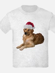 Santa Golden Retriever T-Shirt