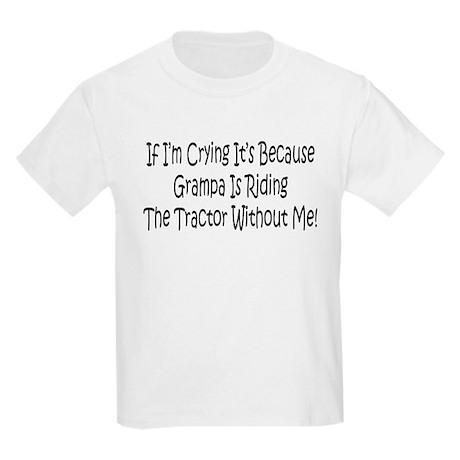 Ride My Grampas Tractor Kids Light T-Shirt