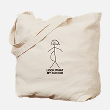Look what my son did Tote Bag