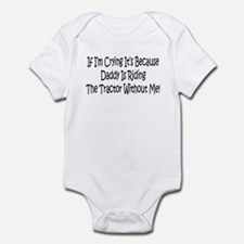 Ride My Daddys Tractor Infant Bodysuit