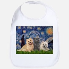 Starry/3 Cairn Terriers Bib