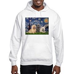 Starry/3 Cairn Terriers Hoodie