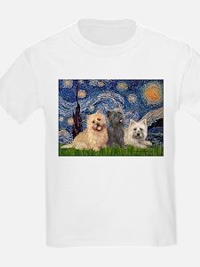 Starry/3 Cairn Terriers T-Shirt