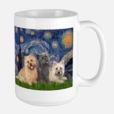 Starry/3 Cairn Terriers Mug