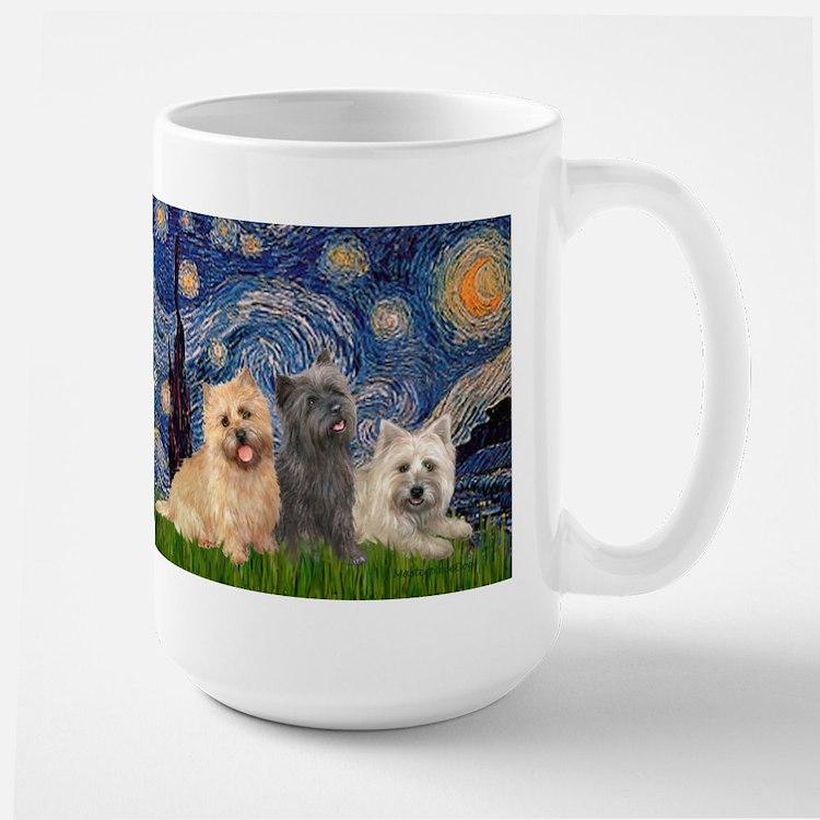 Starry/3 Cairn Terriers Mug