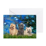 Lilies3/3 Cairn Terriers Greeting Cards (Pk of 10)