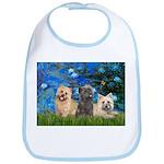 Lilies3/3 Cairn Terriers Bib