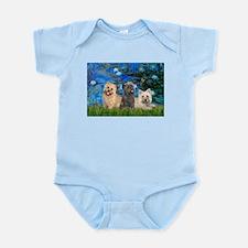 Lilies3/3 Cairn Terriers Infant Bodysuit