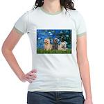 Lilies3/3 Cairn Terriers Jr. Ringer T-Shirt