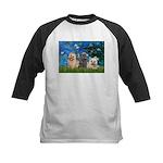 Lilies3/3 Cairn Terriers Kids Baseball Jersey