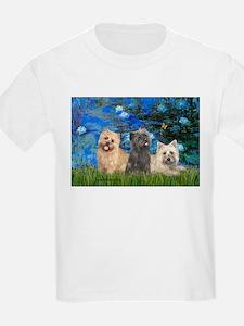 Lilies3/3 Cairn Terriers T-Shirt