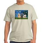 Lilies3/3 Cairn Terriers Light T-Shirt
