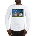 Lilies3/3 Cairn Terriers Long Sleeve T-Shirt