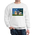 Lilies3/3 Cairn Terriers Sweatshirt
