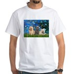 Lilies3/3 Cairn Terriers White T-Shirt