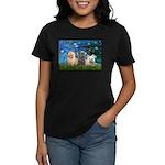 Lilies3/3 Cairn Terriers Women's Dark T-Shirt