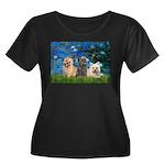 Lilies3/3 Cairn Terriers Women's Plus Size Scoop N