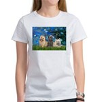 Lilies3/3 Cairn Terriers Women's T-Shirt