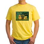 Lilies3/3 Cairn Terriers Yellow T-Shirt