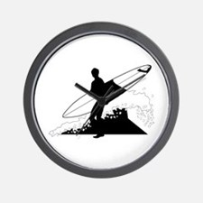 Surfing Wall Clock