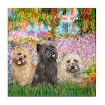 Garden/3 Cairn Terriers Tile Coaster