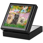 Garden/3 Cairn Terriers Keepsake Box