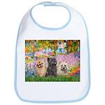 Garden/3 Cairn Terriers Bib