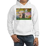 Garden/3 Cairn Terriers Hooded Sweatshirt