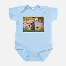 Garden/3 Cairn Terriers Infant Bodysuit