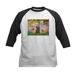 Garden/3 Cairn Terriers Kids Baseball Jersey