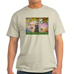 Garden/3 Cairn Terriers Light T-Shirt