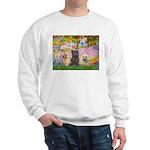 Garden/3 Cairn Terriers Sweatshirt